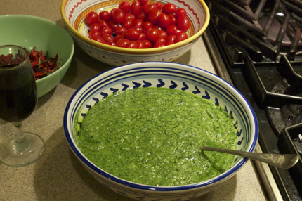 Emerald Green Pesto